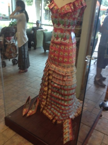 Yes, it's a dress made of tea.